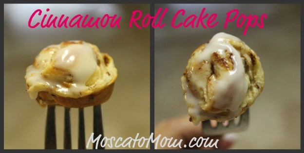 Cinnamon Roll Cake Pops - Moscato Mom