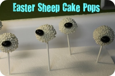 Easter Sheep Cake Pops Moscato Mom