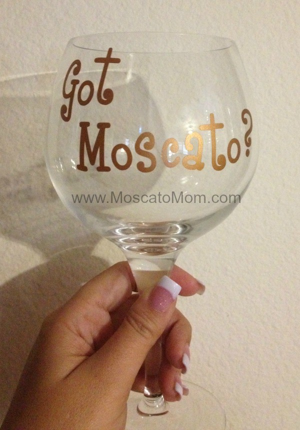 got moscato wine glass