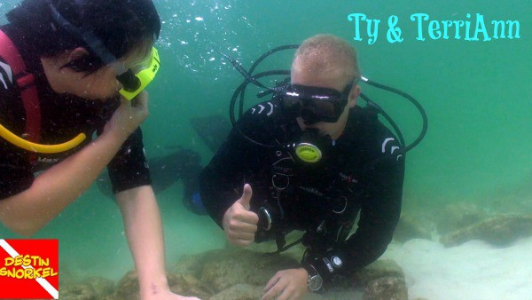 snuba diving in destin harbor