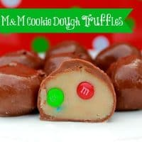 No Bake M&M Cookie Dough Truffles