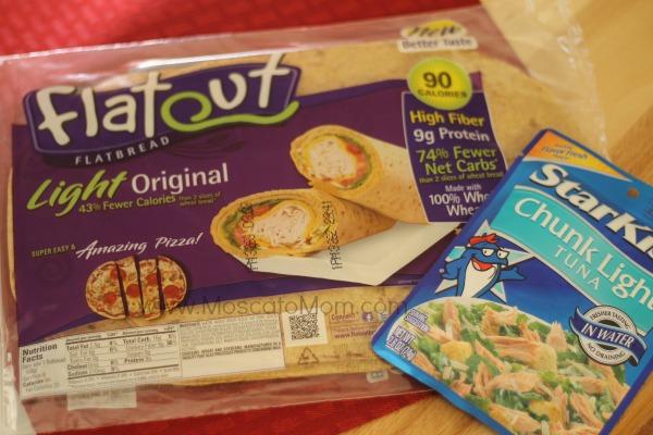 flatout bread and starkist