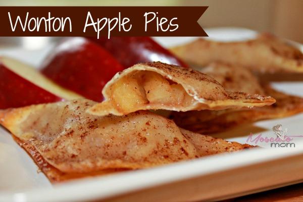 apple pie with wontons