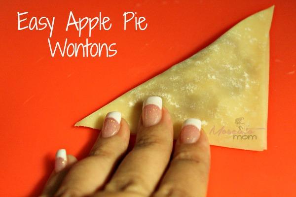 easy apple pie wontons