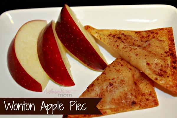 wonton apple pies