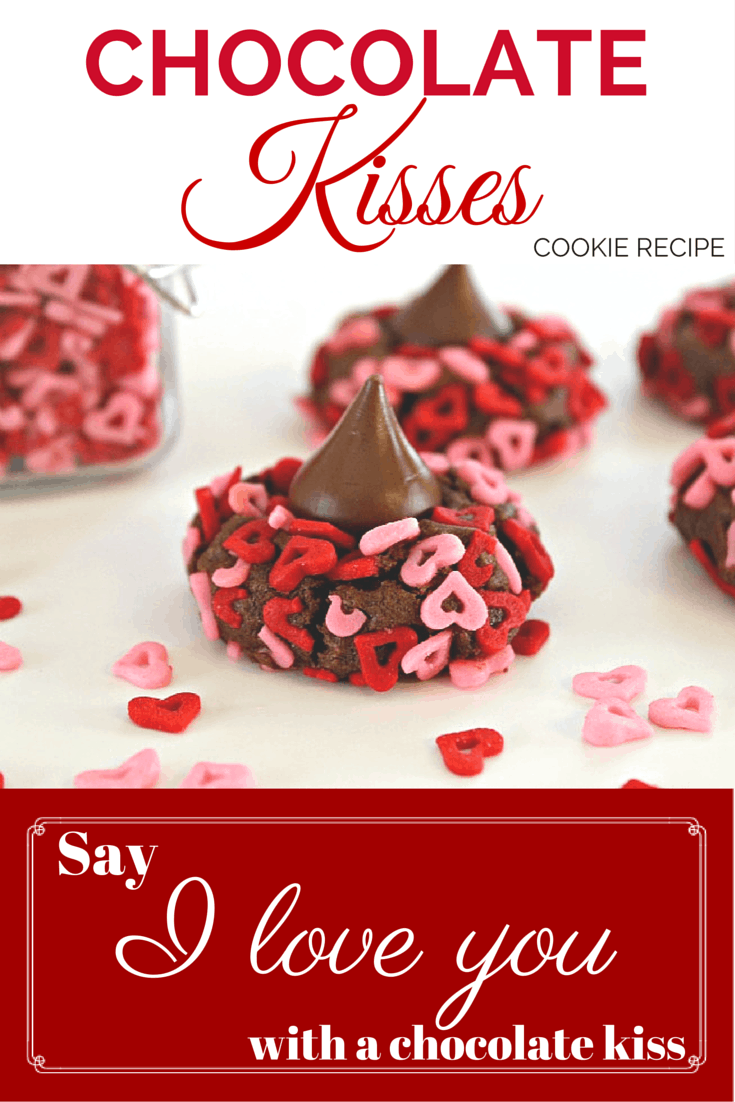 Chocolate Kiss Valentine's Day Cookies