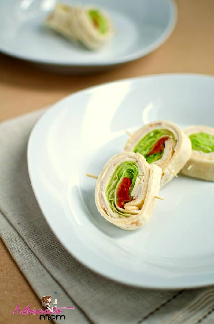 turkey pinwheel wraps