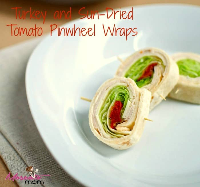 turkey tomato pinwheel wraps