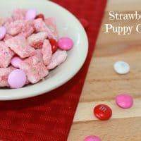 Valentine's Day Strawberry Puppy Chow