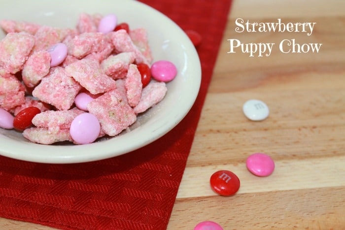 Valentine's Day Strawberry Puppy Chow
