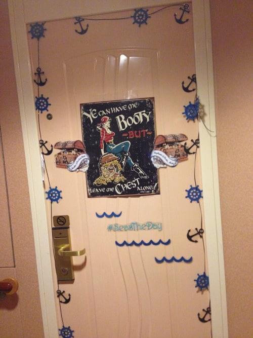Disney Door Decorations Up