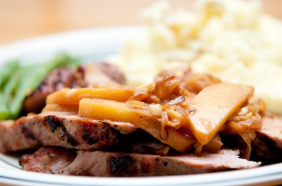 Pork Tenderloin with Apple Cider Reduction