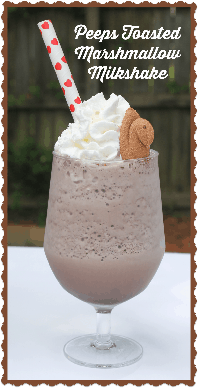 Toasted Marshmallow Chocolate Milkshake – With Peeps Minis!