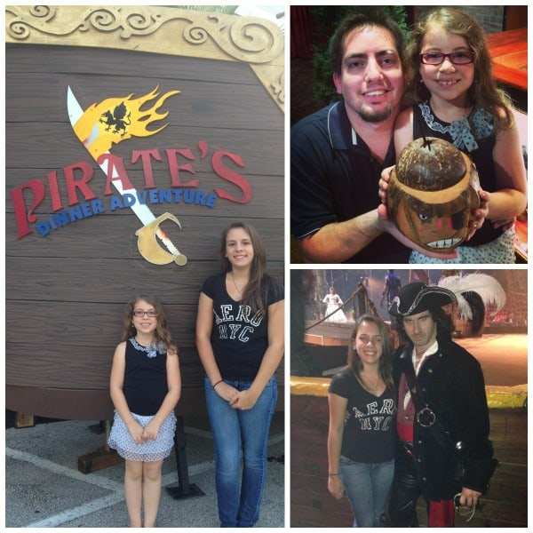 pirates adventure dinner theater