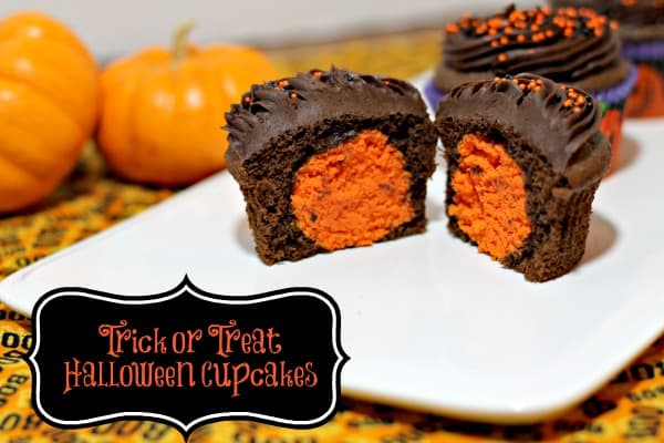 Trick or Treat Cake Pop Cupcakes from