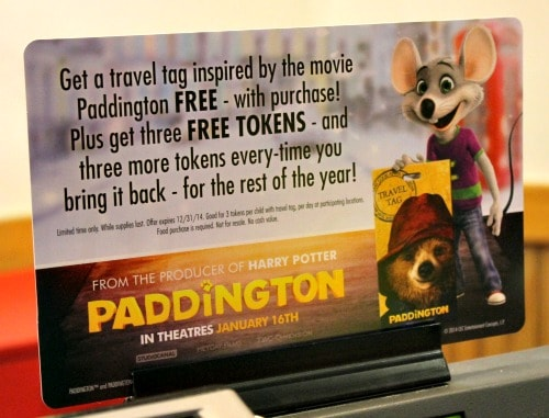 Paddington Bear Teams Up With Chuck E. Cheese's #ChuckEAndPaddington