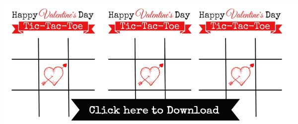 graphic relating to Tic Tac Toe Valentine Printable identify Printable Valentines against Concentration $1 Place