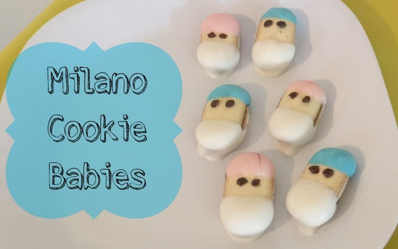 milano cookie babies baby shower food