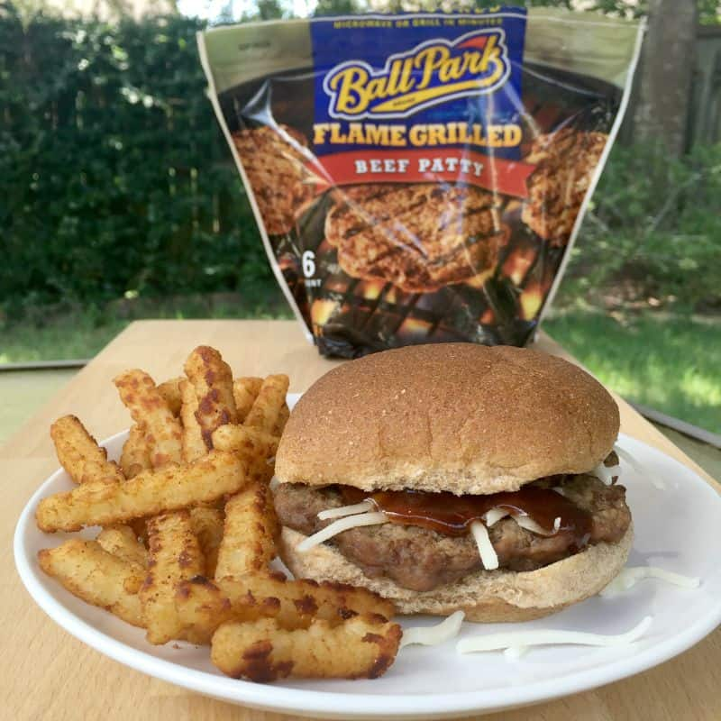 #ad Homemade BBQ Burger With Help From Ball Park®