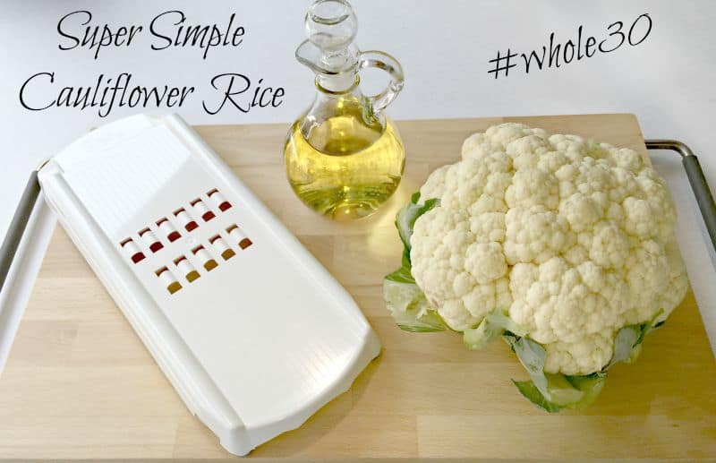 whole30 cauliflower rice