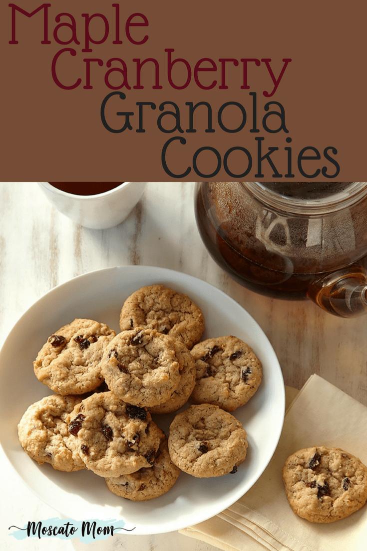 cranberry maple granola cookies
