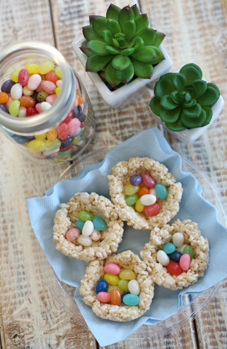Simple Rice Krispie Nests for Easter