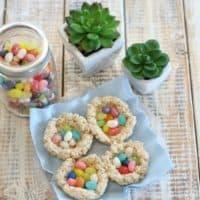 Easy Rice Krispies Easter Nests