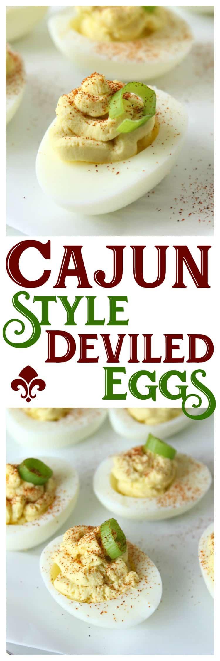 spicy cajun deviled eggs