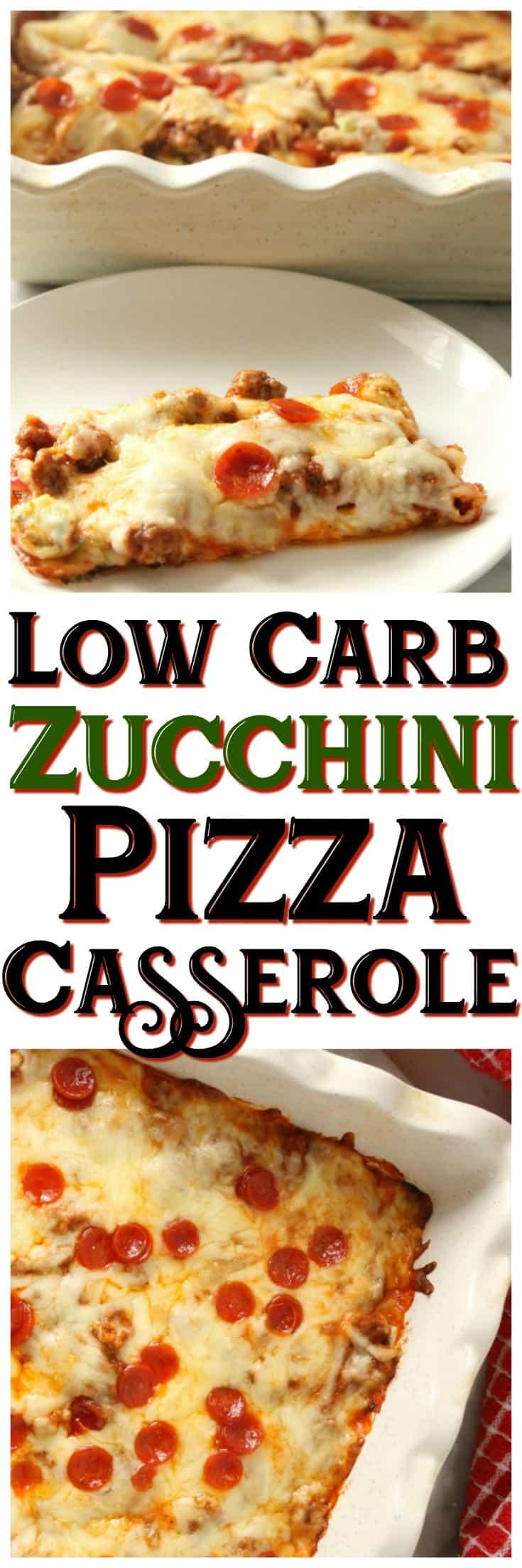keto zucchini pizza casserole