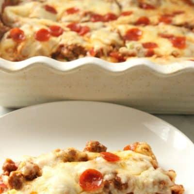 Low Carb Zucchini Pizza Casserole