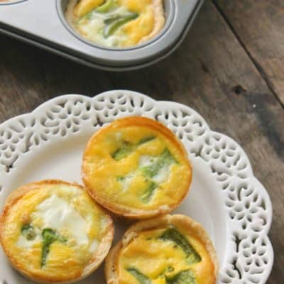 Ham, Cheese, and Bell Pepper Mini Quiche