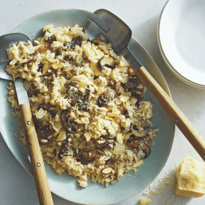 Cheesy Mushroom Risotto by Carolyn S.