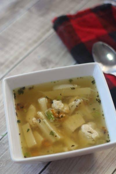 "Keto Chicken ""Noodle"" Soup"