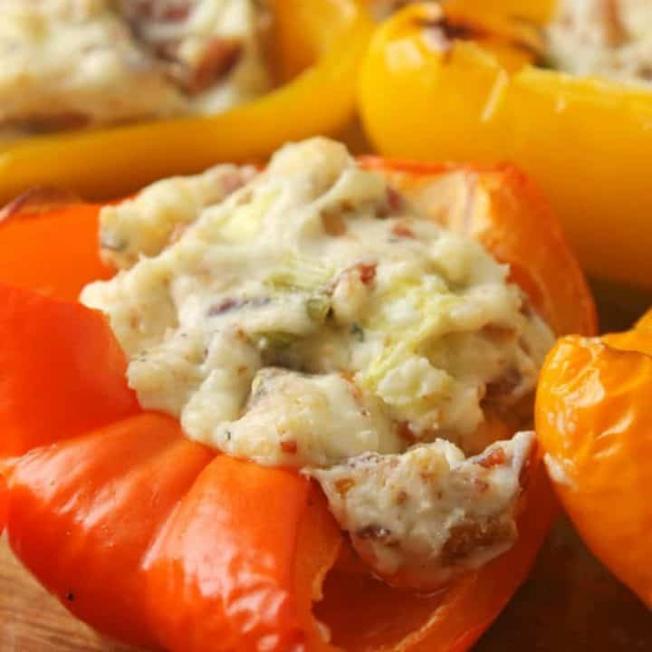 Blue Cheese and Bacon Stuffed Peppers