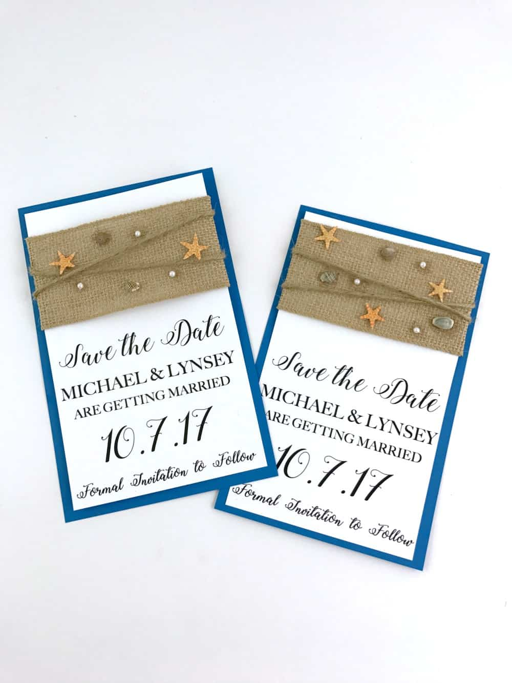 Diy Beach Theme Save The Date Cards