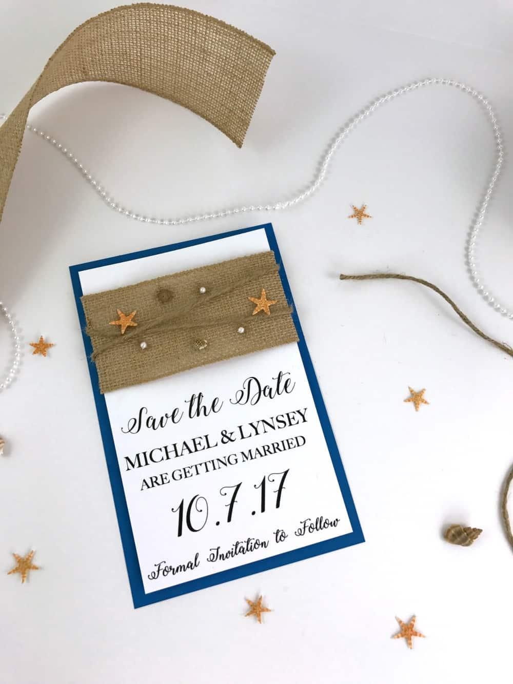 DIY Beach Wedding Invitations