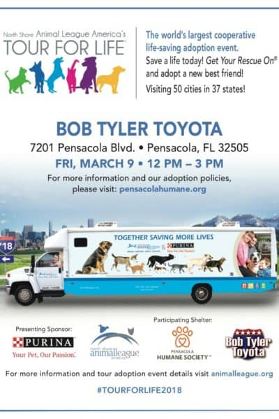 Tour For Life Is Coming To Pensacola March 9th!