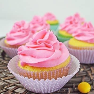 Springtime Surprise Cupcakes