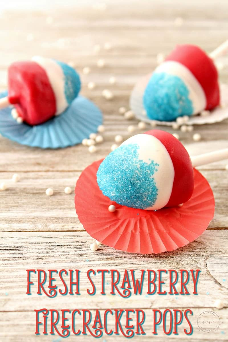 fourth of july strawberry pops