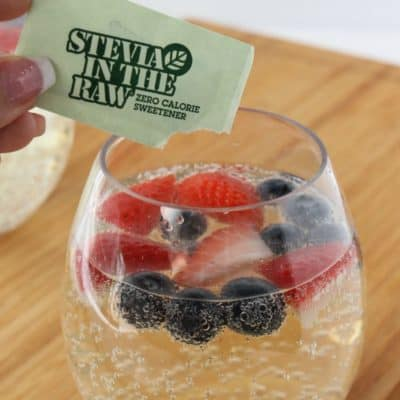 Red, White and Blue Wine Spritzer