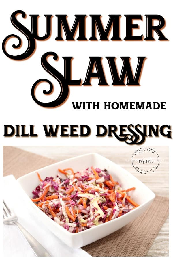 summer slaw with dill dressing