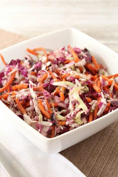 Summer Slaw with Homemade Dill Weed Dressing
