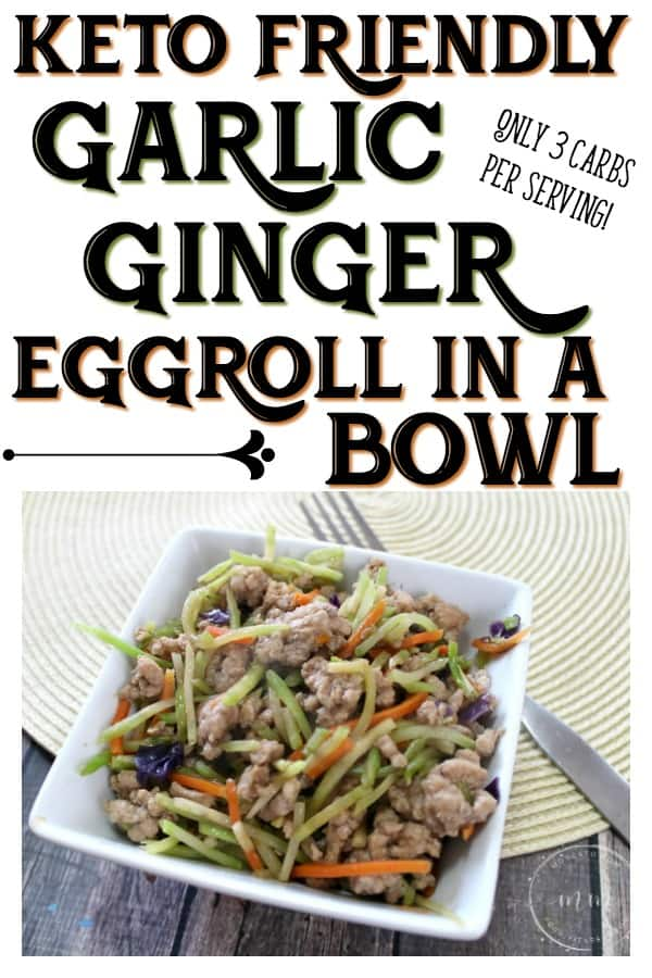 Keto Garlic Ginger Eggroll in a Bowl