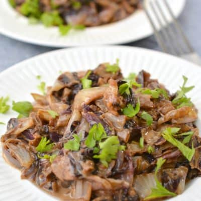 Keto Side Dish – Braised Radicchio