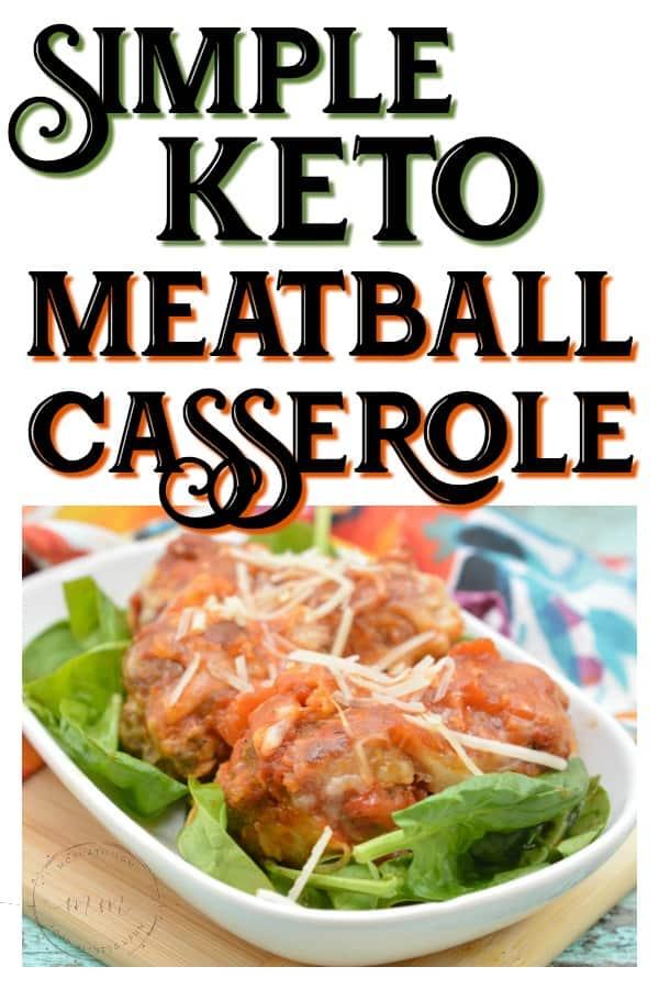 keto meatball casserole