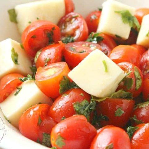 Simple Cherry Tomato Mozzarella Salad