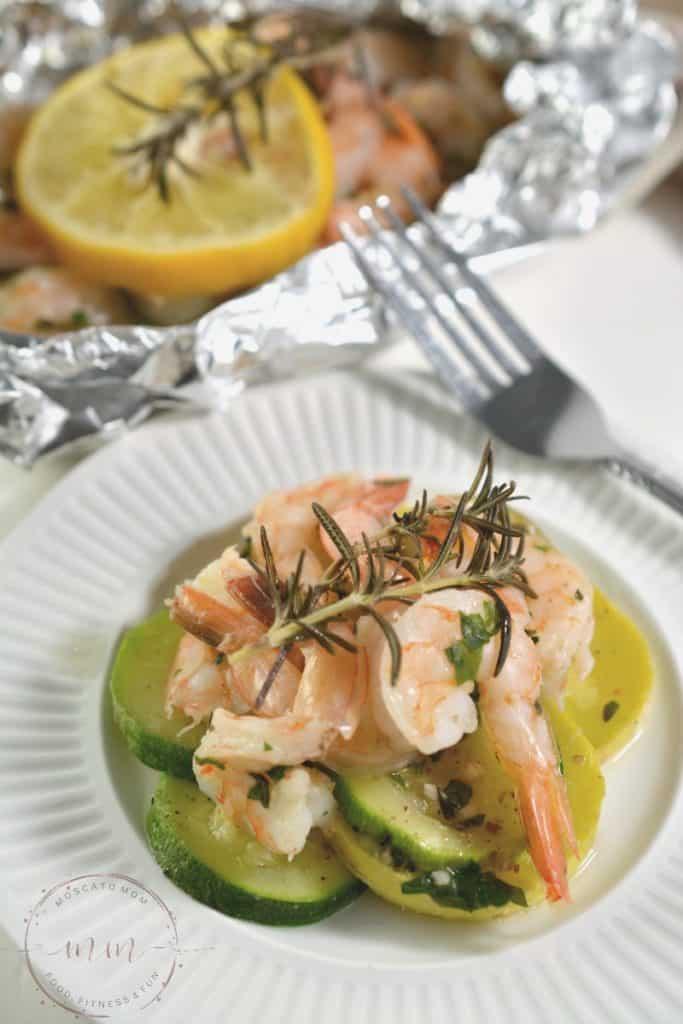 Keto Shrimp Scampi Foil Packet Meal