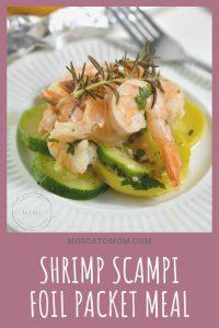shrimp scampi foil packet meal