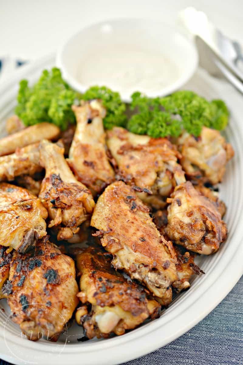 French Onion Soup Chicken Wings Lynsey Kmetz Moscatomom Com