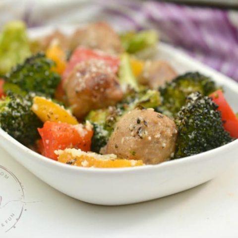 Keto Italian Sausage and Parmesan Sheet Pan Meal